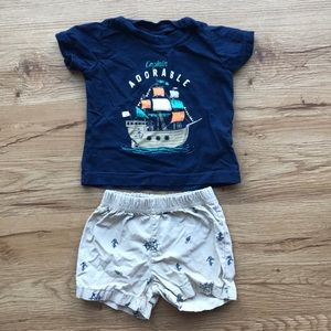 T-shirt and shorts matching set